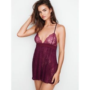 VS Pleated Lace Babydoll